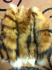 RED FOX FUR TAIL, CHARMING FURS, FLY TYING, TAXIDERMY TAILS, KEY CHAINS 16-17""
