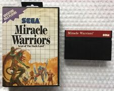 ☆ Miracle Warriors Seal of the Dark Lord (Sega Master System 1988) Game & Case ☆