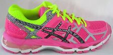 WOMEN'S ASICS GEL-KAYANO 21 LITE-SHOW PINK/SAFETY YELLOW RUNNING SHOES SIZE 7
