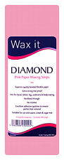 100 Strips Wax It Diamond Soft Pink Paper Leg or Face  Waxing Strip