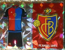 BAS1 BAS2 FC BASEL 1893 kit & badge 2016/2017 Topps Champions League Stickers