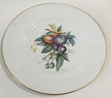 "ROYAL WORCESTER 10.5"" Plum Design Cake Plate Serving Gold Rim"