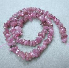 "AA Pink Tourmaline 6-12mm Chip Nugget Beads 16"" Natural Color Genuine Stone"
