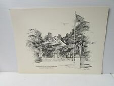 Headquarters of General George Washington, Valley Forge Park, PA ~ Signed