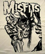 THE MISFITS cd lgo PUSHEAD Official White SHIRT XXL 2X New danzig samhain