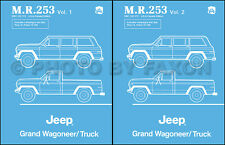 Jeep Truck and Grand Wagoneer Shop Manual 1984 1985 1986 1987 1988 J10 J20
