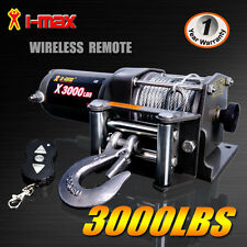 Wireless 3000LBS / 1360KG 12V Electric Steel Cable Winch Boat ATV 4WD Trailer