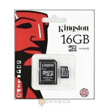 MICRO SD kingstone 16 GB SDHC CLASS 4 KINGSTON + ADATTATORE SD CARD microsd 16gb