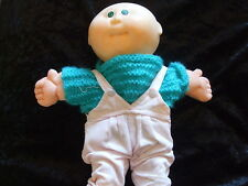 Cabbage Patch Kids Baby Doll Pink Dungarees bald head Xavier Roberts Coleco 1985