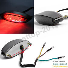 Smoke Motorcycle LED License Brake Tail Light For Bobber Chopper Cafe Racer ATV