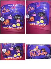 LITTLEST PET SHOP PET PAIRS BLACK & BROWN DACHSHUND DOG 325 GECKO 326 NEW 2007