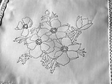Ready to Embroider Table Runner with flowers Anemones CSOO18