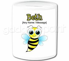 Personalised Gift Animal Insect Cute Bee Money Box Piggy Bank Children Present