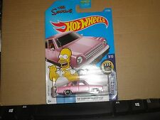 THE SIMPSONS family car #112✰pink; mc5✰doh✰SCREEN TIME✰2017 i Hot Wheels case E
