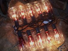 HALLOWEEN OUTDOOR LIGHTED ANTIQUE STYLE BLOODY EDISON BULBS 10 LIGHT STRING PROP
