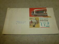 1962 PONTIAC WIDE-TRACK DEALER ISSUED SALES BROCHURE