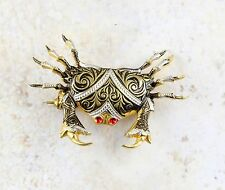 Vintage Gold Toned Abstract Design Crab Pin/Brooch