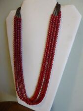Red Sea Coral Heishi Bead And Silver Native American Style Necklace