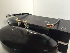 MONTBLANC MB 101 MB101 E69 55[]17 140 Gold Black Rx Rimless Eyeglasses Japan