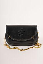 VINTAGE Judith Leiber Black Evening Bag w/Stone Embellished Chain Strap