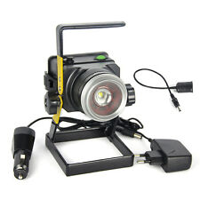 3000LM XML T6 LED Rechargeable Zoomable Flood Light 18650 Portable Spot Lamp 10W
