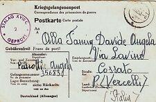 Z5088-II° WW., GERMANY, P.O.W. ITALIAN FROM STAMMLAGER XVIII C  TO COSSATO, 1943