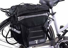 GIANT 2-IN-1 HARD SHELL REAR PANNIER BAG THAT CONVERTS TO DOUBLE LAYER RUCKSACK