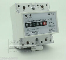 AC 220V 100A kWh Single-phase rail type electronic energy meter,LCD display