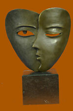 LOVELY QUALITY PURE BRONZE DALI SCULPTURE SUBSTANTIAL ABSTRACT MODERN ART DECO