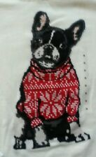 Ann Taylor LOFT FRENCH BULLDOG Intarsia Dog Christmas Sweater NWT Size L Large