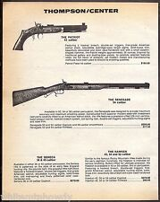 1983 THOMPSON CENTER Patriot Pistol & Renegade Black Powder Rifle PRINT AD