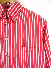 MENS 100% GENUINE GANT E-Z FIT L/S CORAL-RED/WHITE STRIPE SHIRT M RRP £85