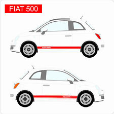 Fiat 500 ABARTH Custom Car Stickers Decal Vinyl Graphics Italy NEW