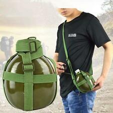 Sport Aluminum Canteen Army Water Bottle Kettle Cup 1.2L Camping Hiking Military