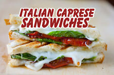 """ITALIAN CAPRESE SANDWICHES 14""""x10"""" STORE RETAIL FOOD COUNTER/WALL SIGN"""