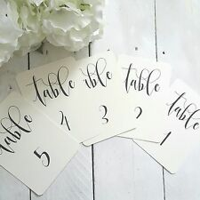 table number cards  1-10 ivory table centrepiece wedding numbers