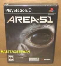 PS2 Area 51 New Sealed (Sony PlayStation 2, 2005)