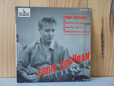 EDDIE COCHRAN - C'MON EVERYBODY - RARE FRENCH 45 EP LIBERTY 2198 Clean Condition