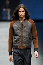 Diesel Black Gold limagly-FS marrón cuero chaqueta talla 48 (M) 100% Auténtico