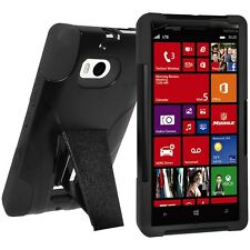 AMZER RUGGED DOUBLE LAYER HYBRID KICKSTAND HARD SHELL CASE FOR NOKIA LUMIA 930