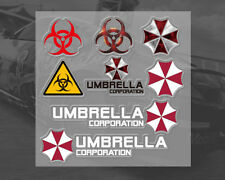 BIOHAZARD Resident Evil UMBRELLA CORPORATION Car interior / notebook Sticker Set