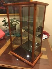 Display Model/Curio - Wood & Glass  - Asian Merbau - New!! -  Free Shipping