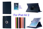 For ipad Air 2 Screen Protector/ Rotating PU Leather Case Cover