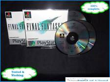 Final Fantasy VII (7) PS1 platinum game with demo + FREE Final fantasy figure