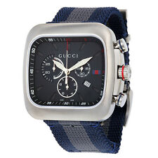 Gucci Coupe Blue Dial Chronograph Nylon Mens Watch YA131203