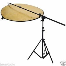 Hwastudio ® Kit Fotografía Plegable Disc + Reflector 5 In1 + Stand Boom Brazo