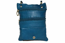 PASSPORT MONEY TRAVEL NECK POUCH NEW BLUE VERY SAFE