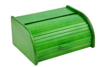 Wooden Bread Box Apollo Roll Top Bin Storeage Loaf Kitchen - Green