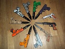 NEW WHOLESALE LOT 11 PCS TACTICAL SPRING ASSISTED GUN FOLDING POCKET KNIFE