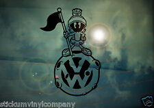 VW Marvin the Martian Car Sticker/Decal *Dubs*German*Volkswagen*VAG*Euro*VDUB*